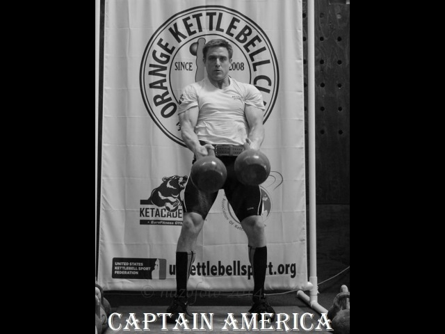 Training MSIC Bill Esch CAPTAIN AMERICA kettlebell lifting