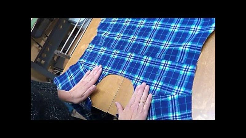 Обработка двойной кокетки в мужской рубашке