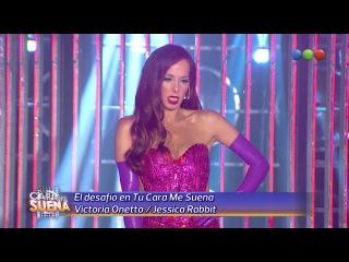 El Desafio: Victoria Onetto es Jessica Rabbit - Tu Cara Me Suena 2014