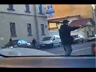 Russian Mafia in Action. Shooting on Streets like GTA.