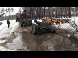Экстримальная работа водителей в лесу