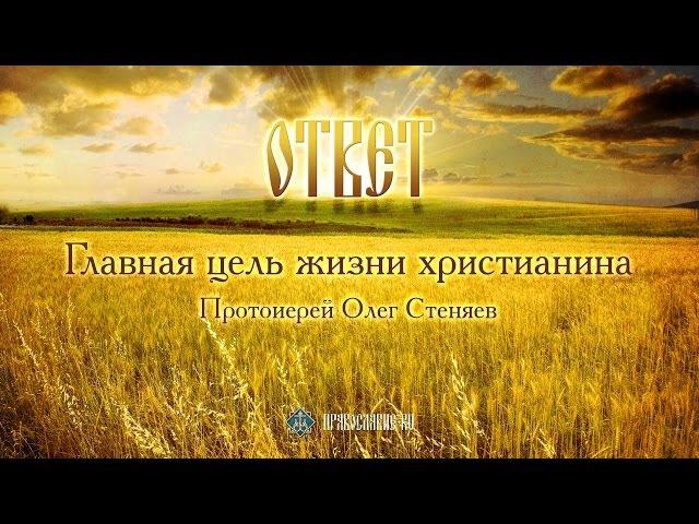 Главная цель жизни христианина. Протоиерей Олег Стеняев.