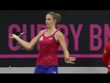 Каролина Плишкова - Мария Шарапова / Кубок Федерации / 14.11.2015
