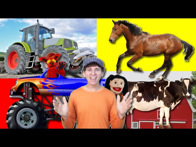 What Do You See? Song | On The Farm Tractor and Animals | Learn English Kids