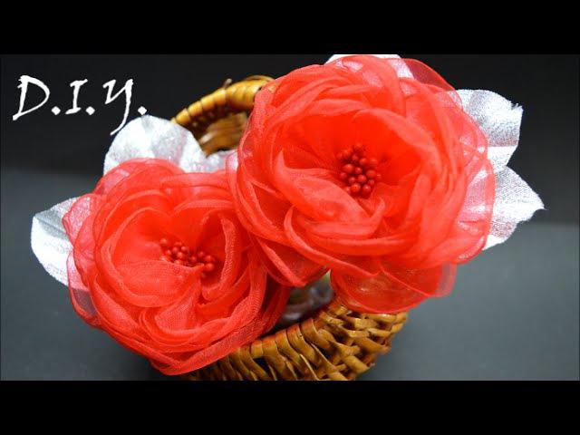 ❀ ♡ ❀ D.I.Y. Organza English Rose | MyInDulzens ❀ ♡ ❀