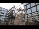 Metalmorphosis sculpture of Franz Kafka in Prague