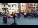 Pink Floyd Another Brick In The Wall Busker Cover @ Pantheon Rome