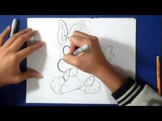 рисунок: как рисовать ошибки кролика (ребенок)