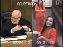Woman gives judge the finger gets jail time - Penelope Soto Says fuck you to the judge!!