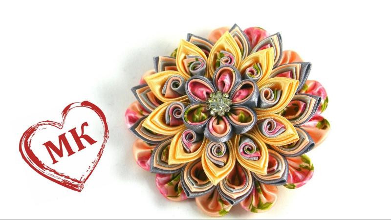 Многослойный цветок канзаши. Цветы из ткани: мастер класс.