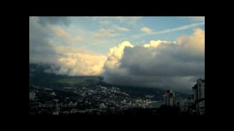 Шторм в декабре в Ялте. Storm in Yalta in December 2010.
