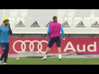 It's great to see captain Sergio Ramos back training with the group!