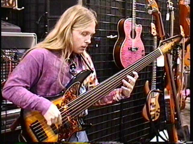Steve Bailey jams at the NAMM show in 1996,