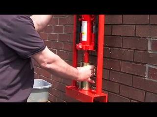 Пресс для топливных брикетов своими руками бесплатное отопление
