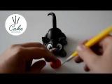 Идеи декорирования тортов: делаем черную кошку