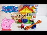 Обзор игрушки: конструктор Домик Свинки ПЕППА PEPPA PIG TOY REVIEW Garden House Construction Set