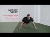 Wide Grip Push-Up Bodyweight Training Exercise