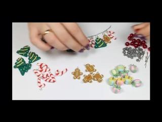 Новогодние украшения своими руками- Браслет из полимерной глины (1)