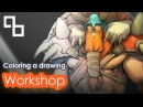 Tutorial Coloring a drawing