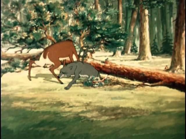 Олень и волк. Мультфильм, СССР, 1950 год.
