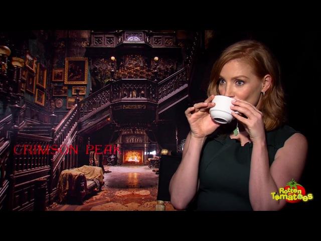 Crimson Peak Interview: Tom Hiddleston, Guillermo Del Toro, Jessica Chastain, and Mia Wasikowska