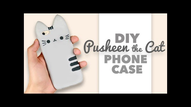 DIY How to make a Pusheen the Cat Phone Case Collab with DebbyArts