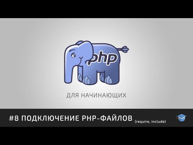 PHP для начинающих | 8 Подключение PHP-файлов (require, include)