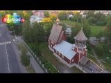 Новодвинск Архангельский ЦБК с воздуха (съемка с дрона квадрокоптера год 2014)