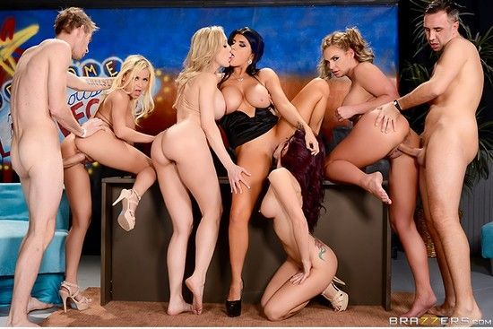 PornstarsLikeItBig – Brandi Love, Marsha May, Monique Alexander, Phoenix Marie, Romi Rain – The Late Night Orgy