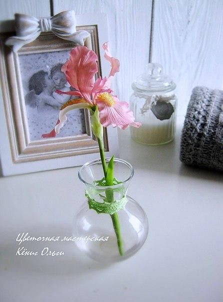 Цветы ручной работы их полимерной глины…. (8 фото) - картинка