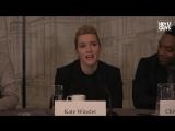 Кейт на пресс-конференции в рамках фильма «Три девятки»