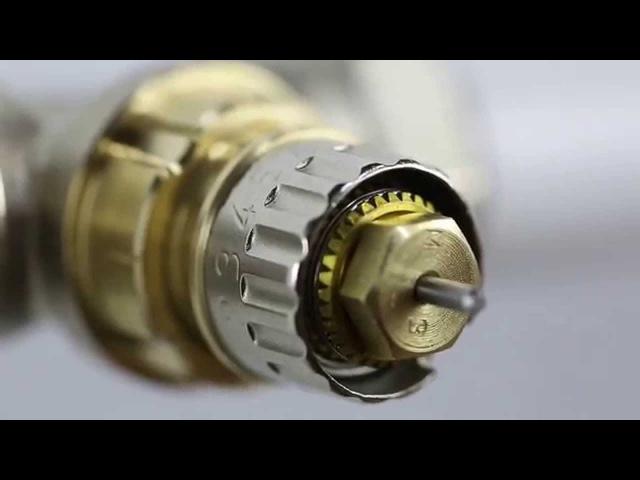 Монтаж радіаторного клапана Danfoss з попередньою настройкою RA-N