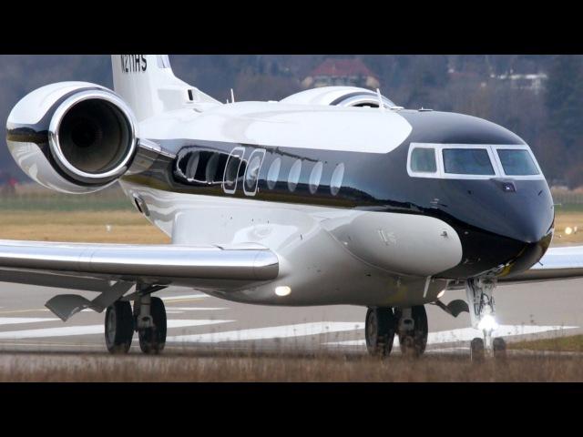 Best Looking Gulfstream G650 Landing Take Off at Bern Airport