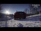 Tesla Model S Зимой в Норвегии 19.12.2013 (На русском)
