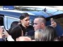 Justin Bieber meeting hugging fans at his hotel in Sydney, Australia - July 1, 2015