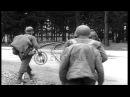 American Army troops entering area of Dachau Concentration Camp, Dachau, Germany, Stock Footage