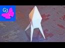 Оригами из бумаги Транспортная Ракета