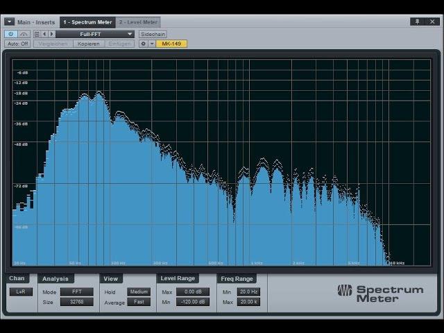PreSonus Studio One 3. Измерители. Phase Meter, Spectrum Meter, Level Meter и Tuner