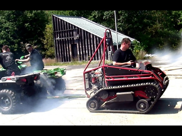 Ripchair (track chair) vs 2 Four-wheelers Ridiculous Full Pull!