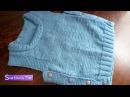Жилетка безрукавка для малышей Детская жилетка спицами 304