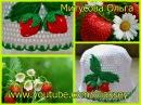 Вяжем клубнику крючком Knit crochet strawberries
