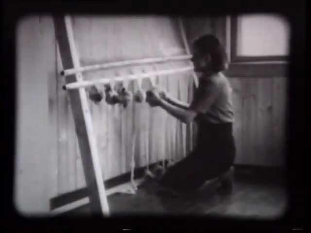 Ткачество на вертикальном станке. Норвегия. 1947 (stumfilm)