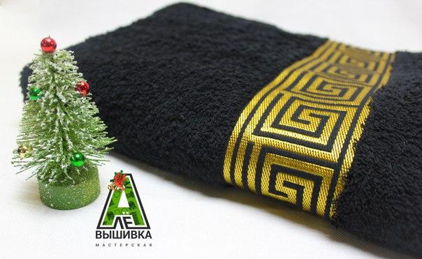 Черное полотенце премиум