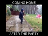 Coming home after the party