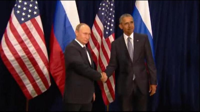 Ярмарка. Путин, Абама и Флаги )