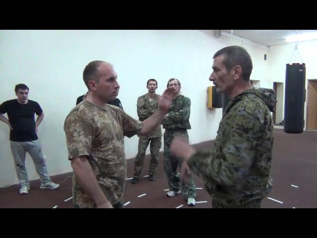 Сергей Колюшенко Казачья боевая традиция работа локтями 11 2013