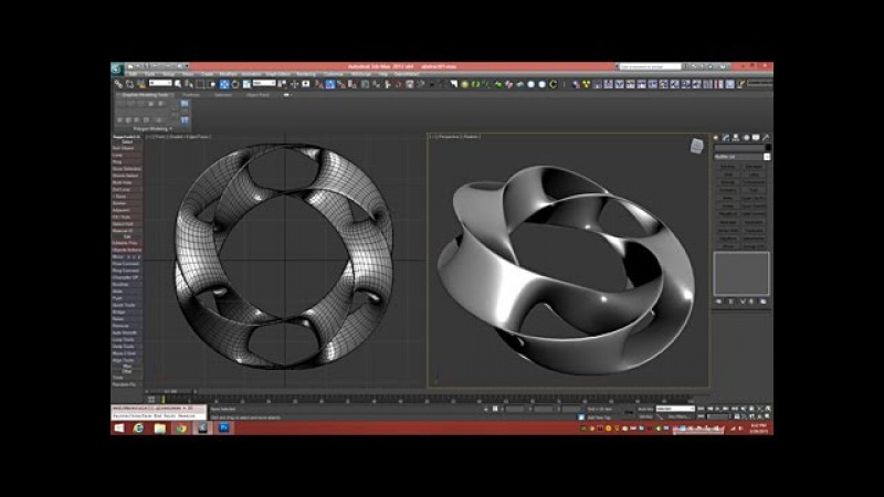 3D Tutorial | Model a Scherk-Collins Saddle Surface Ring | 3dsmax