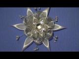 Новогоднее украшение на елку Канзаши Снежинка Своими Руками МК