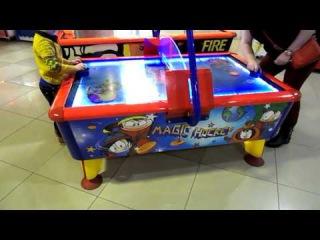 ТЦ 555/Колибрис Детские игровые автоматы #2  Играю в Аэрохоккей с Мамой