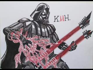 How to draw Darth Vader from
